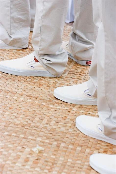 All White Destination Beach Wedding in Hawaii   Grooms