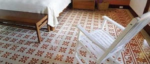 Cruz Saldrigas Cement Tile Pattern with Triple Border