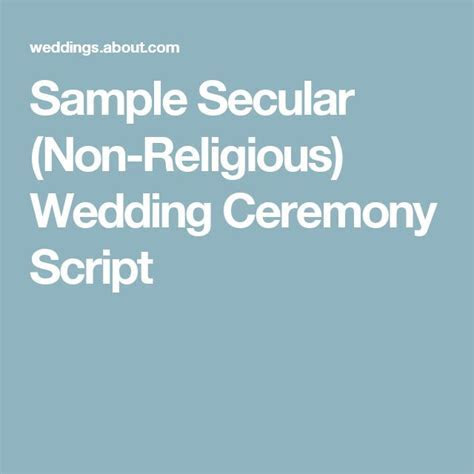 17 Best ideas about Wedding Ceremony Script on Pinterest