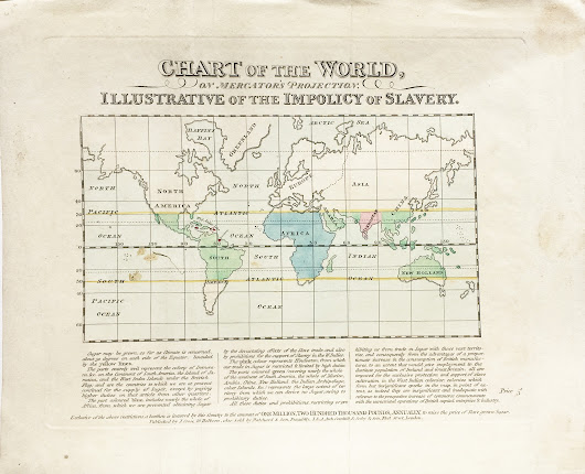 "Rare map detailing the "" Impolicy of Slavery """