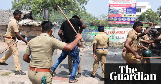 Police in south India accused of mass murder after shooting dead protesters | World news | The Guardian
