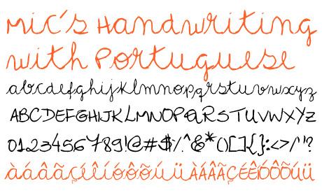 click to download Mics Handwriting