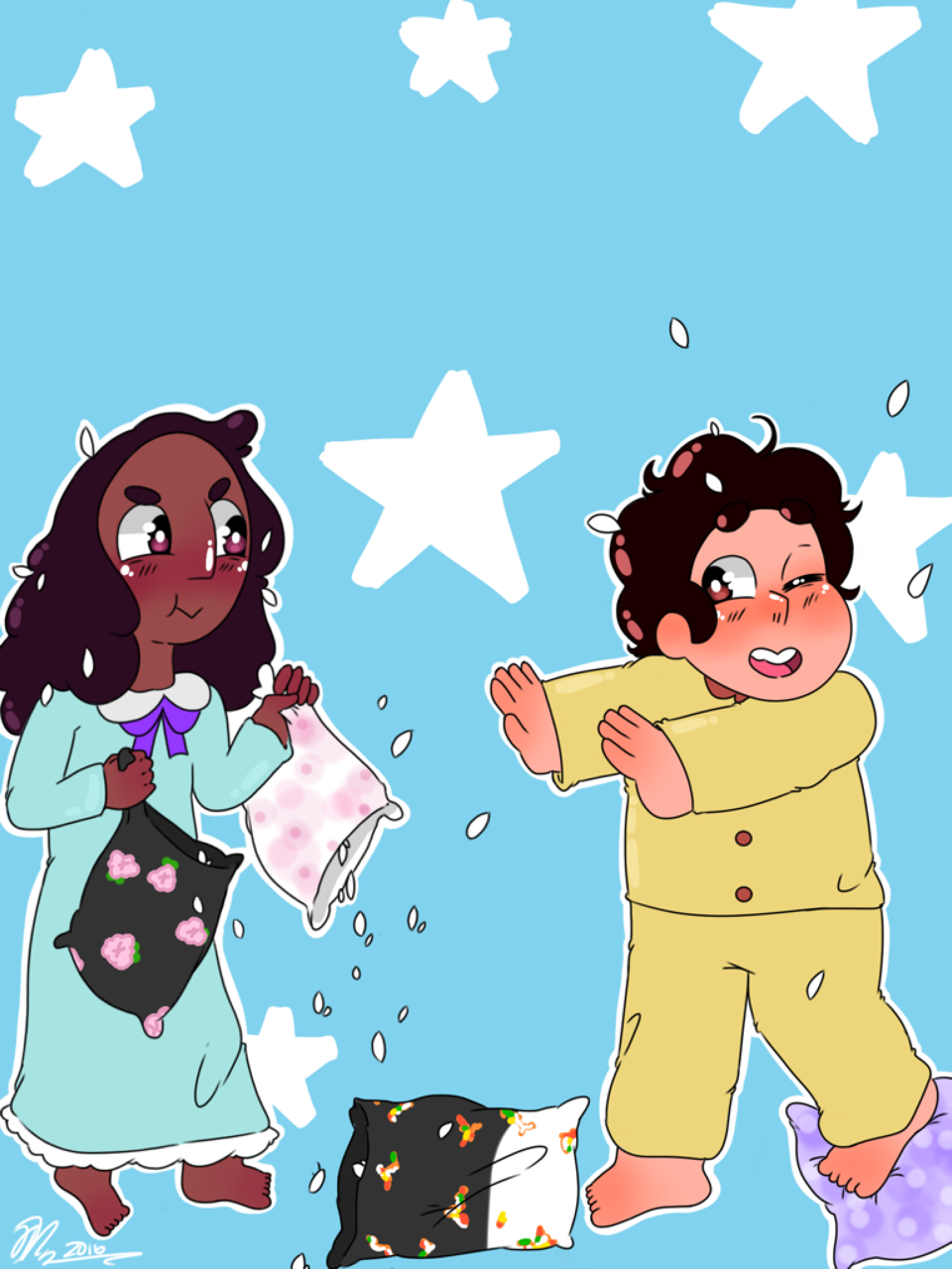 Steven never stood a chance against the pillow fight champion⭐️ ( I feel now more than ever people need positivity, and lots of wholesome pure™ Connverse 💖)