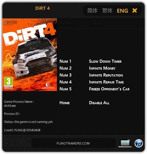 dirt 4 trainer