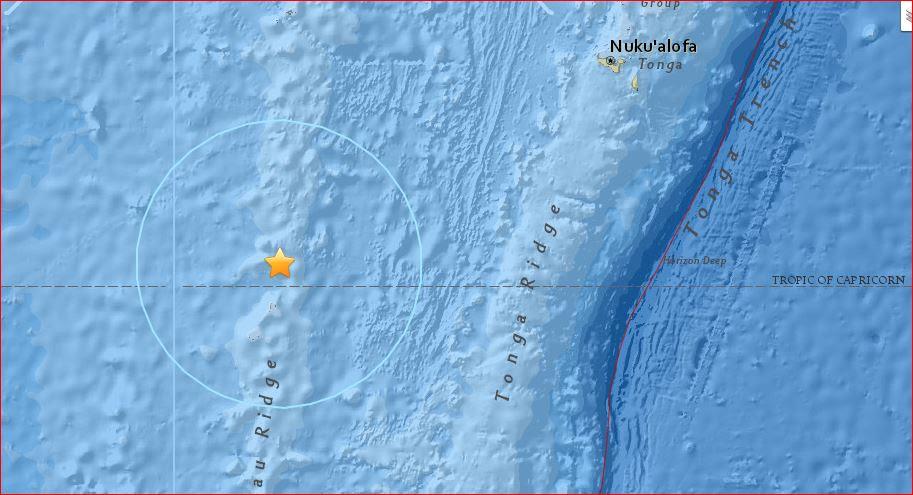 tremblement de terre de tonga fiji 24 février 2017, fidji tonga tremblement de terre le 24 février 2017 la carte, un puissant séisme de magnitude 6,9 a frappé la région Fidji-Tonga le 24 Février, 2017. via USGS