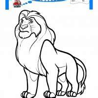 cocuklar icin hayvan aslan boyama sayfasi
