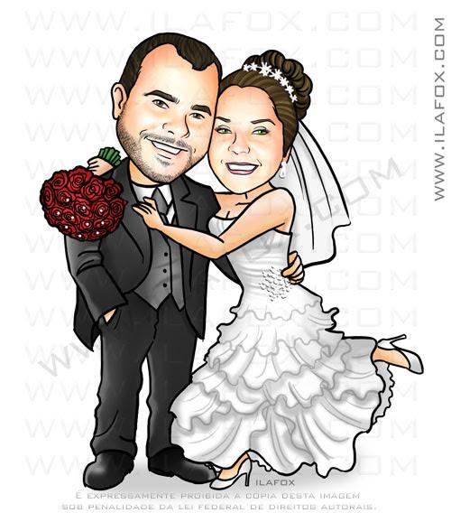 caricatura casal, caricatura noivinhos, caricatura para casamentos, caricatura bonita, by ila fox