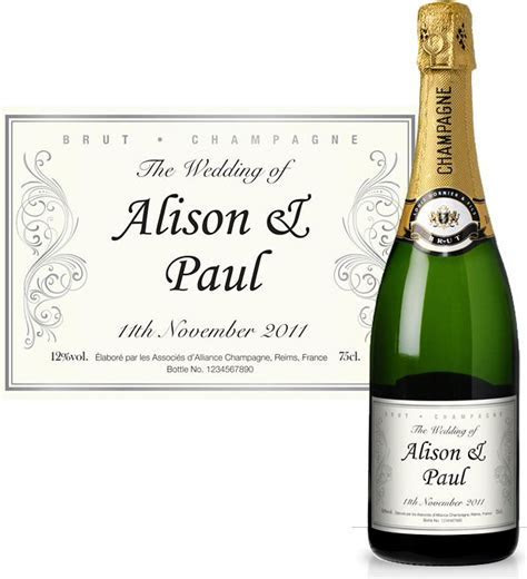 Personalised Wedding Reception Champagne