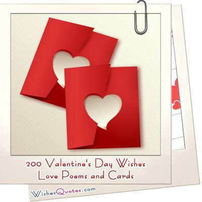 200 Valentine's Day Wishes, Heartfelt Love Poems & Romantic Cards