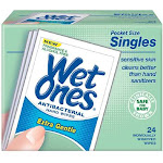 Wet Ones Hand Wipes for Sensitive Skin, Green - 24 count