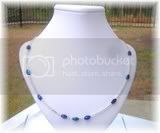 Karen Series - Glass and Blue Bead Necklace