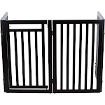 Trixie Pet Products Convertible Wooden Dog Gate, Espresso