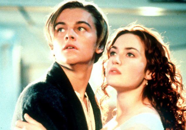Romance: Leonardo Di Caprio apareceu como Jack Dawson, com Kate Winslet como Rose DeWitt Bukater, no filme Titanic, de 1997 que a família acredita que se baseia na relação entre os seus antepassados