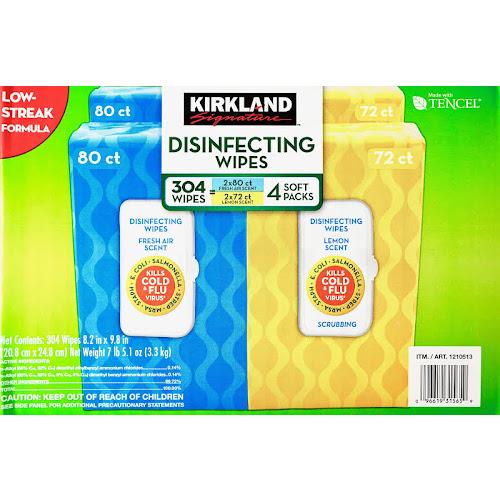 Kirkland Signature Disinfecting Wipes - 304 count