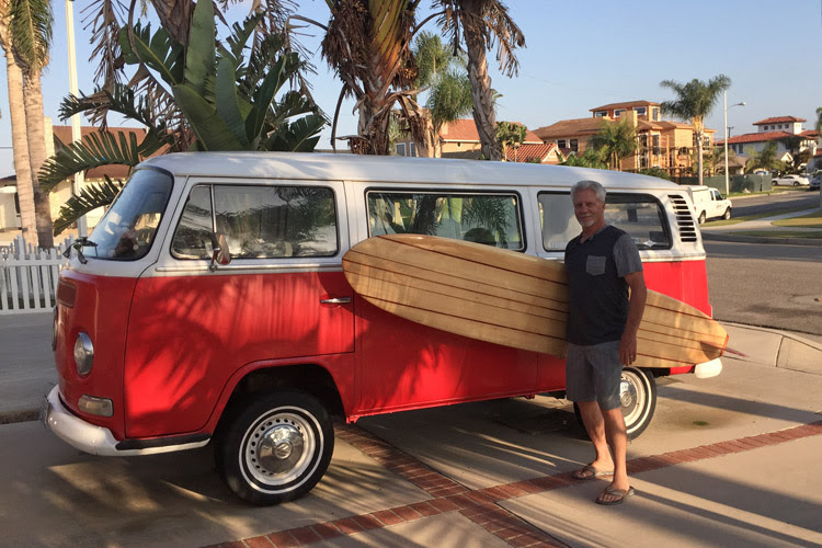 Bob Vale: he inspired and helped Steve Brown reconnect with surfing
