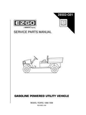 Golf Cart Accessories EZGO 28502G01 1998-1999 Service