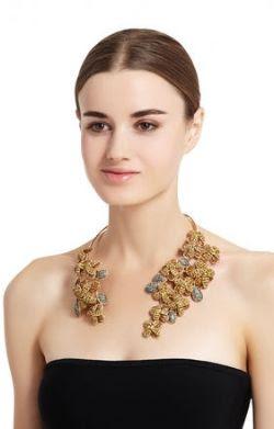 Spring Floral Fashion - BCBGMAXAZRIA Floral Stone Cascade Necklace