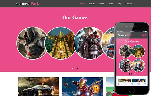 Games Park a Games Category Flat Bootstrap Responsive Web Template by w3layouts
