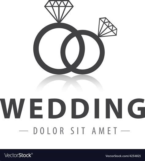 Wedding rings logo Royalty Free Vector Image   VectorStock