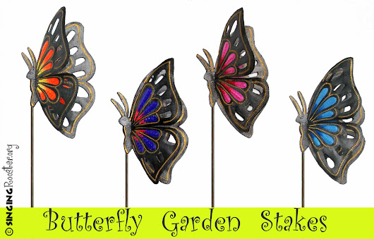 Buy Perched Butterfly Garden Stakes