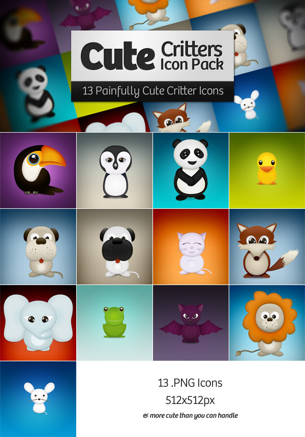 Cute Critters Icons Preview