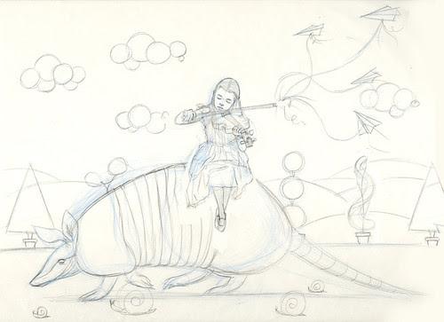 WIP - Armadillo Dream (rough sketch)