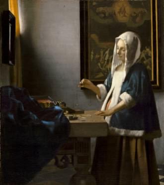 Vermeer's Woman Holding a Balance
