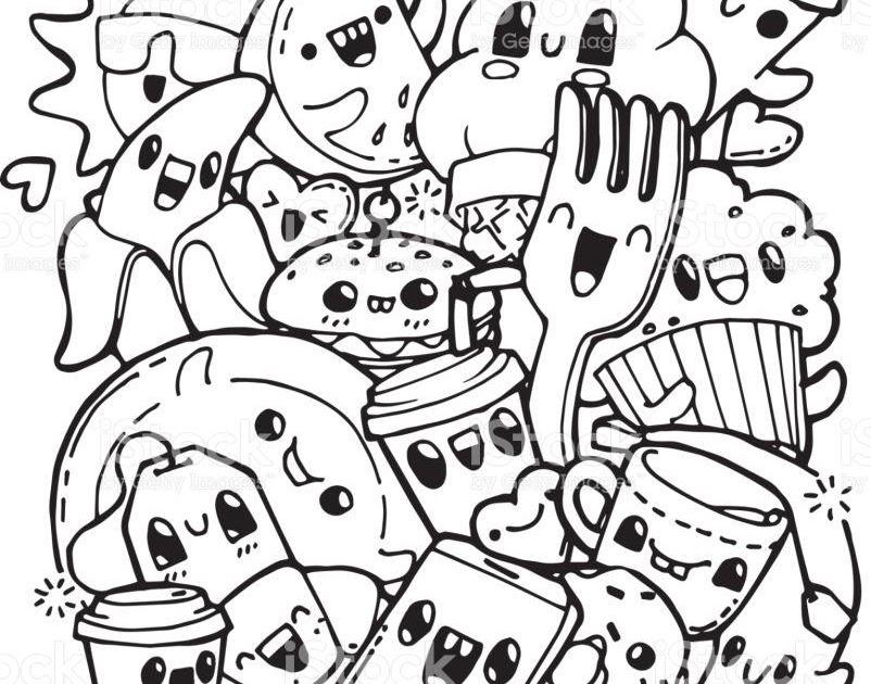 dessin à imprimer: Coloriage A Imprimer Nourriture Kawaii