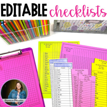 Editable Grade Sheets, Checklists and To-Do... by Monica Parsons ...