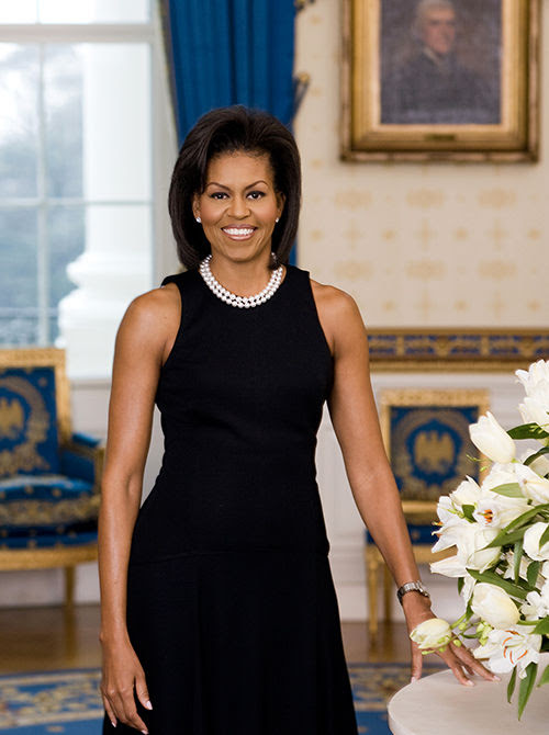 Michelle Obama drew criticism in her official photo