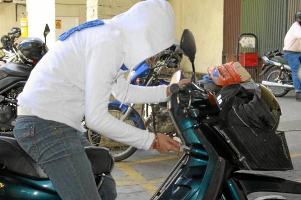 Resultado de imagen para robo de motocicleta