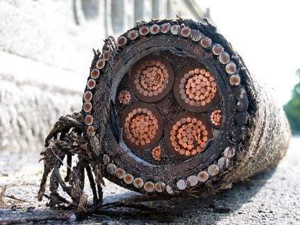 HV copper cable
