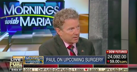 Rand Paul Defends Getting Hernia Surgery in Canada: I Will Have to Pay Cash, That's Capitalism