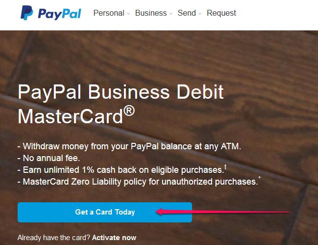 How to Get a PayPal Debit Card   Sapling.com