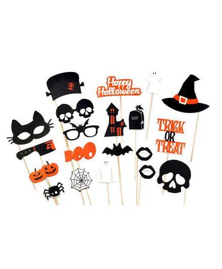 Party Propz Halloween Theme Photobooth Props Multicolour 20 Pieces