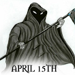 REAPING DAY APPROACHES. THE REAPER COMES TO REAP YOU. ANOTHER TAX DAY IN AMERICA COMES. | Bizarro Theater