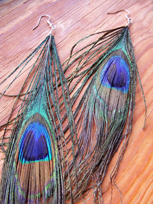 Earrings Pretty Peacock