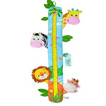 Child Growth Chart Height Measurement Ruler and Wall Décor for Nursery, Zoo Animals from Sozzy