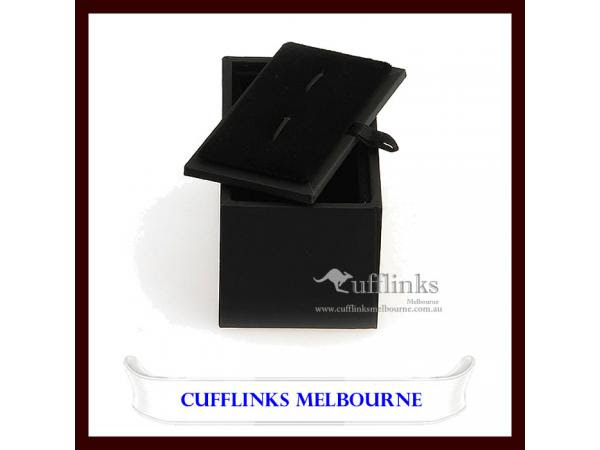 Professional Black Pu Leather Cufflinks Gift Case Box Size 85 X 45