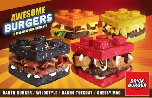 Restaurant In Philippines Serves Burgers With Colorful LEGO Brick Shaped Buns | FizX