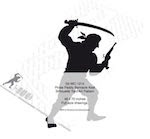 Pirate Paddy Barnacle Keel Silhouette Woodworking Pattern - fee plans from WoodworkersWorkshop® Online Store - pirates,shawodw art,silhouettes,yard art,painting wood crafts,scrollsawing patterns,drawings,plywood,plywoodworking plans,woodworkers projects,workshop blueprints