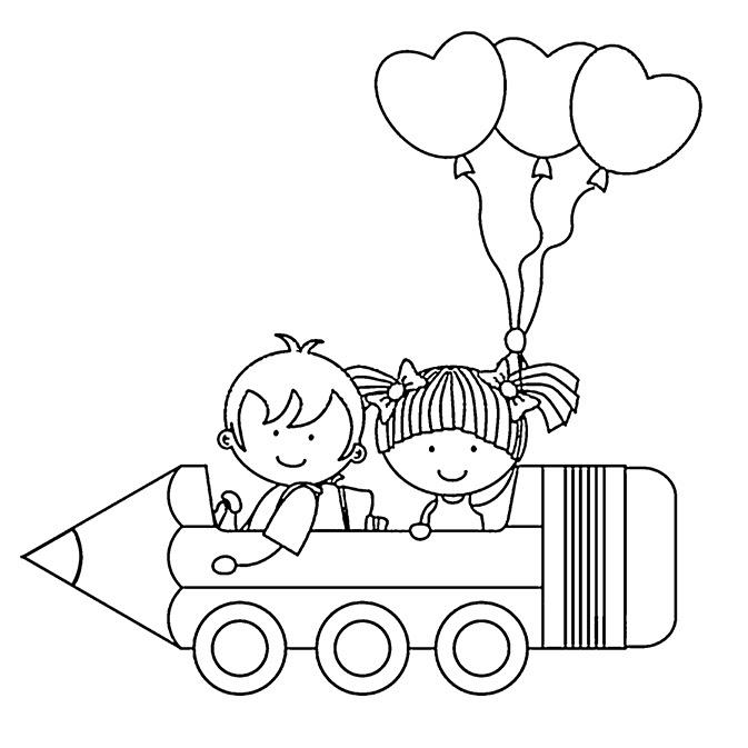 Dernier Coloriage Rentrée Des Classes Maternelle