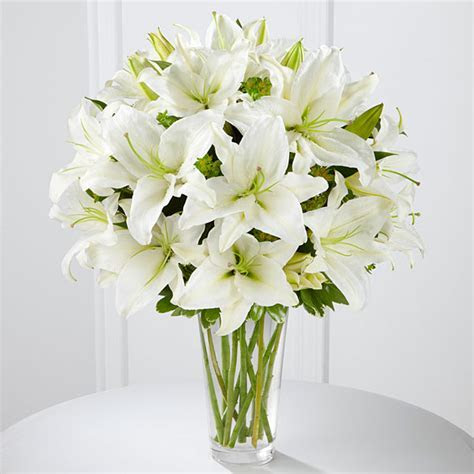 The Spirited Grace Lily Bouquet by FTD ? VASE INCLUDED