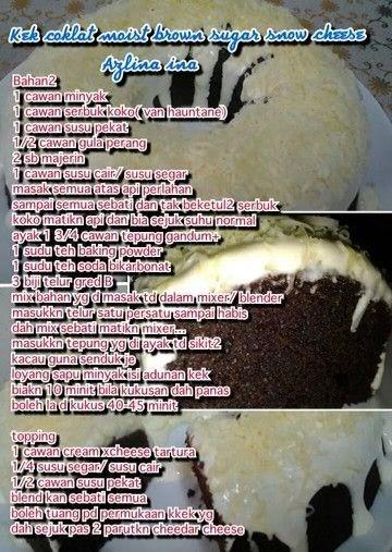 resepi kek coklat moist cheese meleleh kebaya lurik Resepi Kek Coklat Lava Azlina Ina Enak dan Mudah