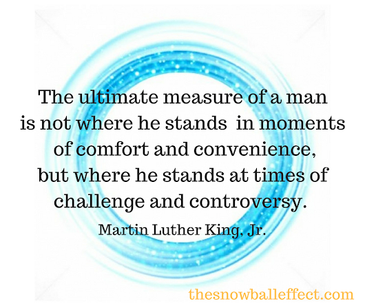 Martin Luther King, Jr: Acceptance, Faith, Hope and Character - The Snowball Effect