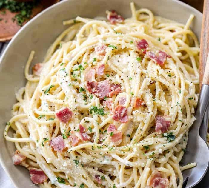 resepi spaghetti carbonara simple  sos prego pemilik resepi menggunakan jenis carbonara Resepi Spaghetti Ringkas dan Enak dan Mudah
