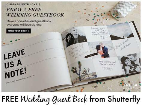 FREE Wedding Guest Book from Shutterfly   It's Back!