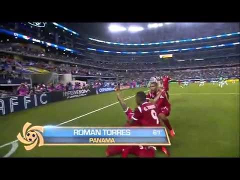 Panama vs Mexico 2013 Copa Oro Semifinal Goals 2-1 Highlights Perez Torres Montes Video
