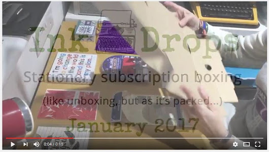 Boxing January's selection - Ink Drops | delightful stationery by subscription, UK subscription box, stationery boutique