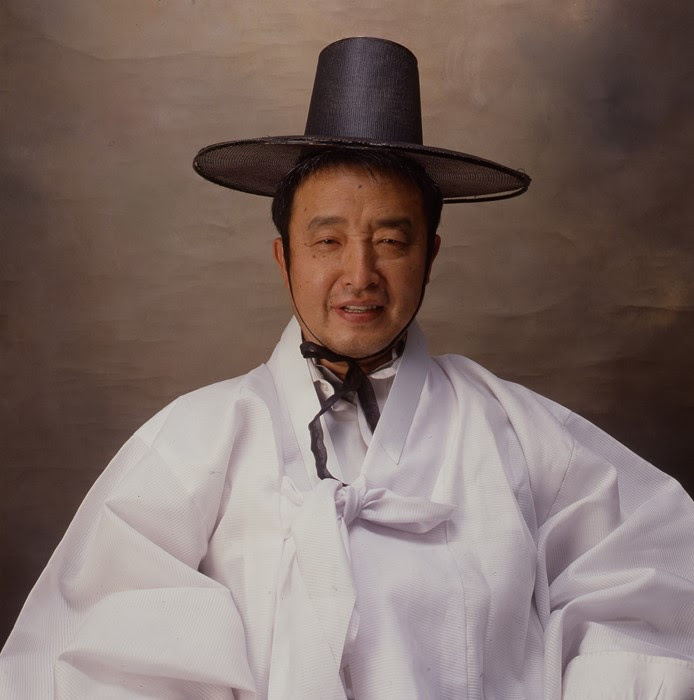 Nam June Paik as Korean emperor ©Eric Kroll